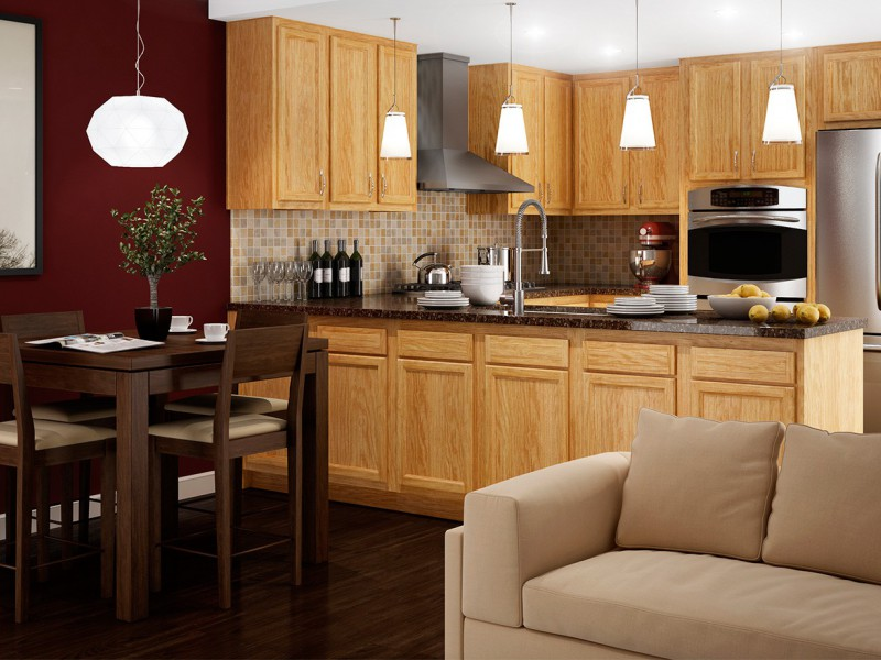 Kitchen Kompact Cabinets with GE Quick Kitchen Appliance Package