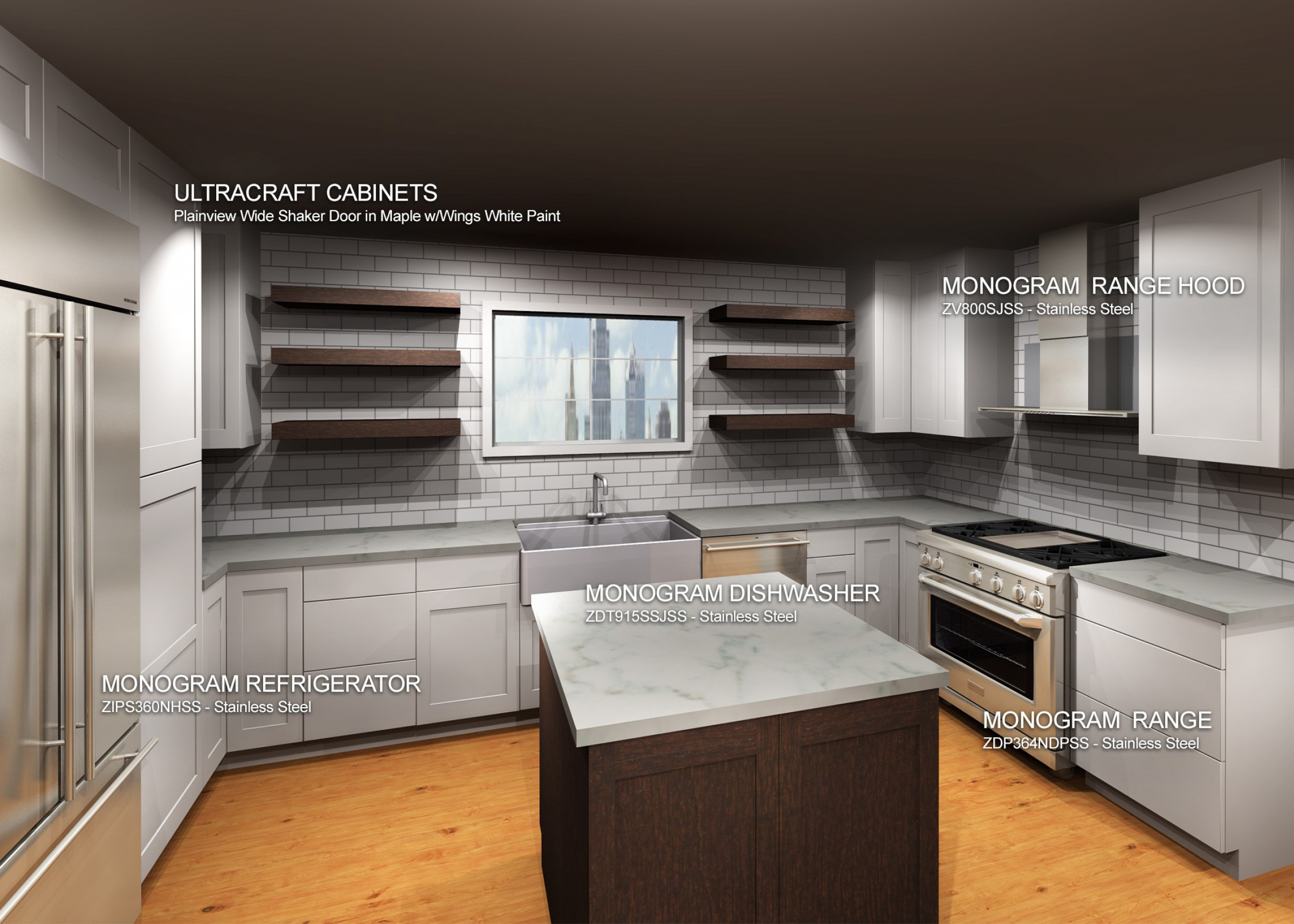 Ultracraft Cabinets with Monogram Appliance Package