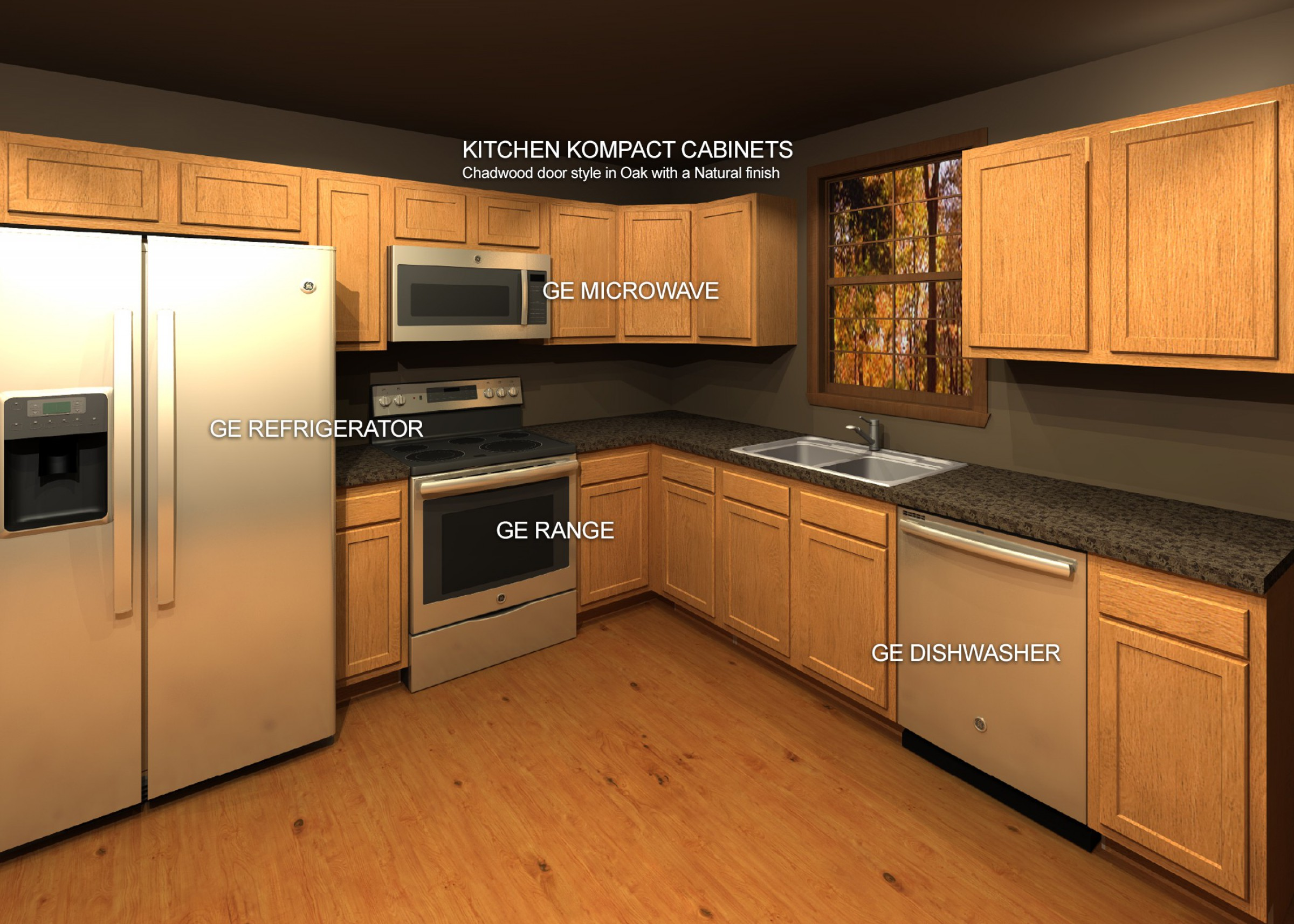 Kitchen Kompact Cabinets with GE Quick Kitchen Appliance ...